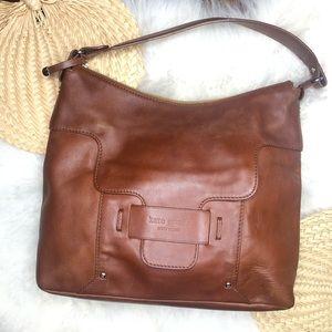 Kate Spade brown leather hobo satchel shoulder bag